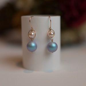 Brand New 14K Gold Filled Swarovski pearl earrings
